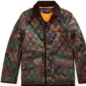 Ralph Lauren Polo Big Boys Quilted Car Coat Jacket